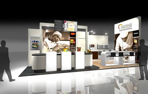 Nestle Exhibition Booth : Expotechnik group messepräsentation nestlé et global