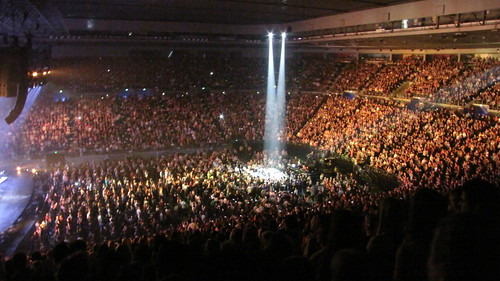 Spotlight on Michael Buble's second stage at Rod Laver arena. | by smjbk