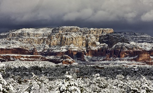 Sedona in Snow | by unbearable lightness