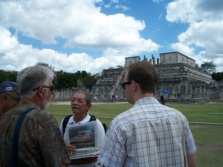 Parsians, our guide and Ben at Chichen Itza. | by violetblueiris