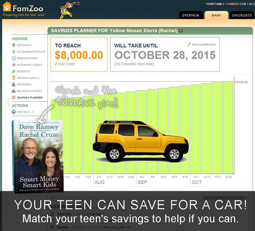 Your teen CAN save for a car. Try the 401DAVE plan. | by FamZoo