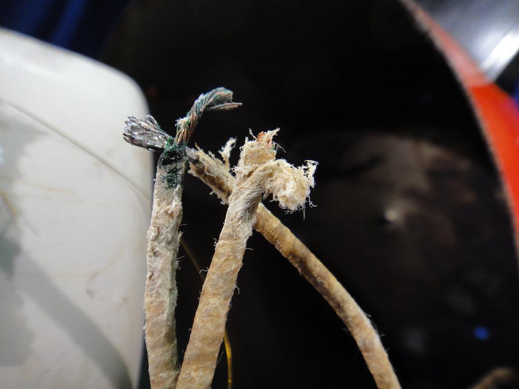 Vintage Crockpot Asbestos Insulated Wiring | Close-up detail… | Flickr