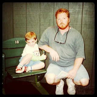 Me at thirty-two with my son. He fractured his wrist at Skydome, but that did't stop me from dragging him around the country to the Baseball Hall of Fame. | by ObieVIP