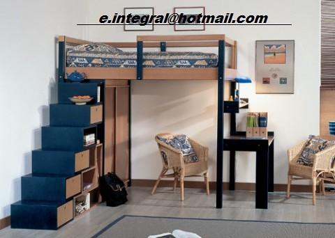 Cama alta con escritorio exterior closet silla sencilla es flickr - Cama alta con escritorio ...
