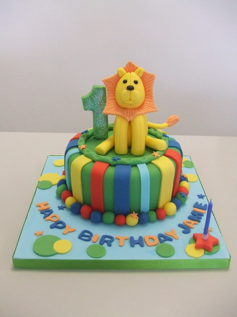 CAKE Lion 1st birthday by Stacey this design 55 for a 6 Flickr