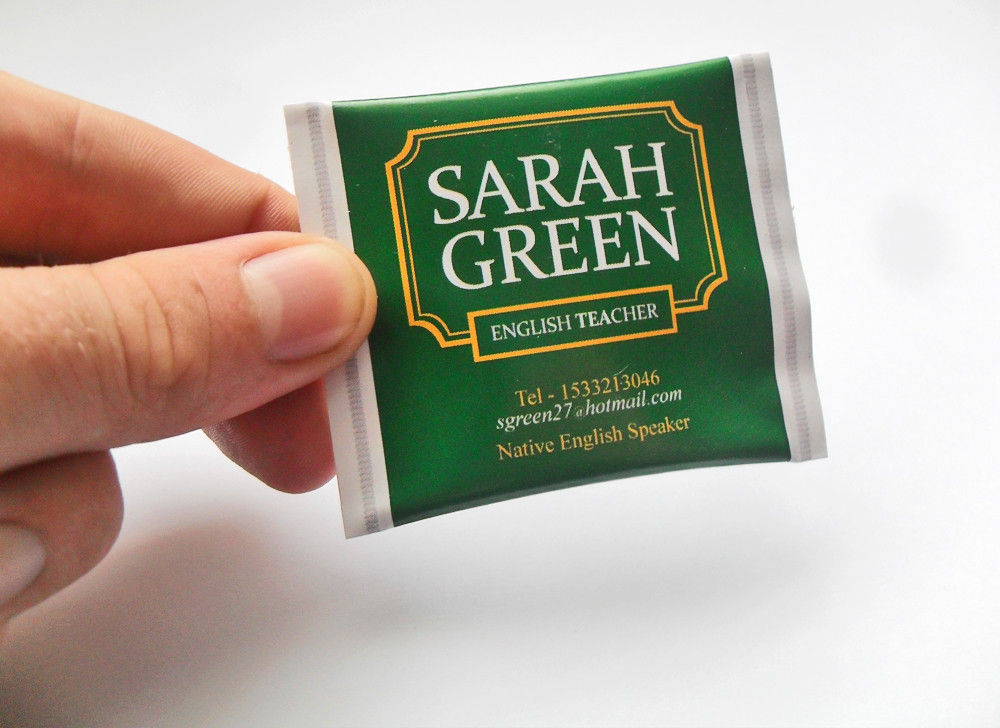 Sarah greens tea bag inspired business card from forthcre flickr by forthcreative sarah greens tea bag inspired business card from forthcreative by forthcreative colourmoves
