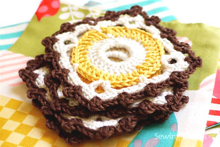 Crochet: Café Brun Coasters | by Sewing Daisies