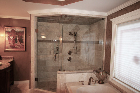 ... Master Suite Custom Tile Walk In Shower | By JP Interior Renovations