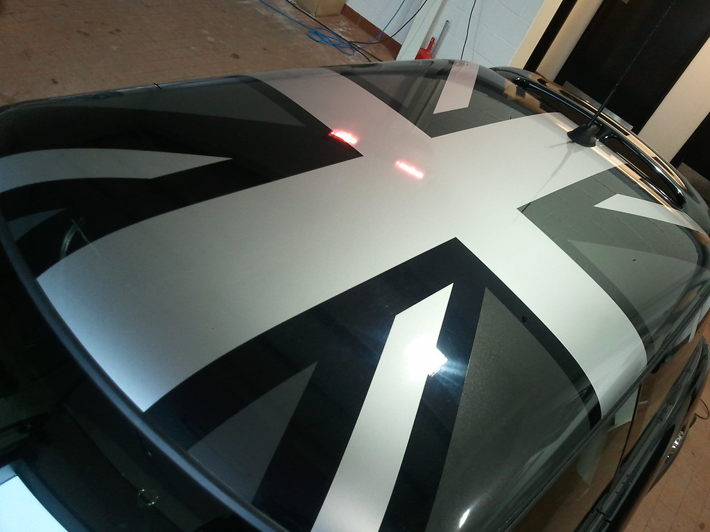 BMW Mini Silver Union Jack Roof Phil Aliphon Flickr - Bmw mini roof decals