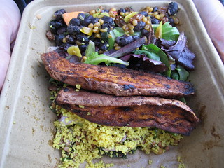 Takeout from Whole Foods in Georgetown | by veganbackpacker
