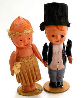 Vintage celluloid Kewpie wedding topper. | by AlliesAdornments