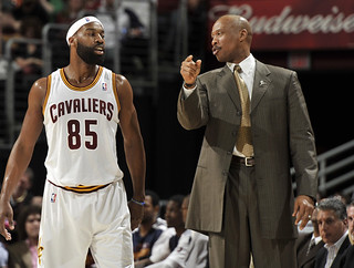 Coach Scott Talks with the Beard | by Cavs History