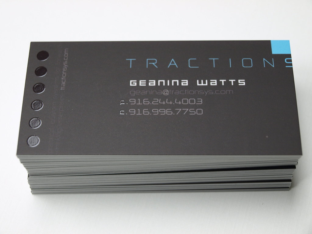Full Color Silk Laminated Slim Business Cards with Spot UV… | Flickr