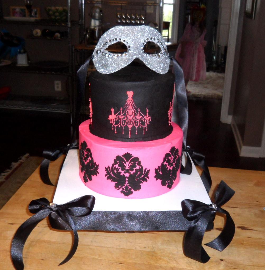 Masquerade Ball Themed Birthday Cake Cake I Made For My Da Flickr