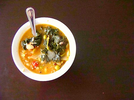 White Bean and Kale Soup | by t-dubisme