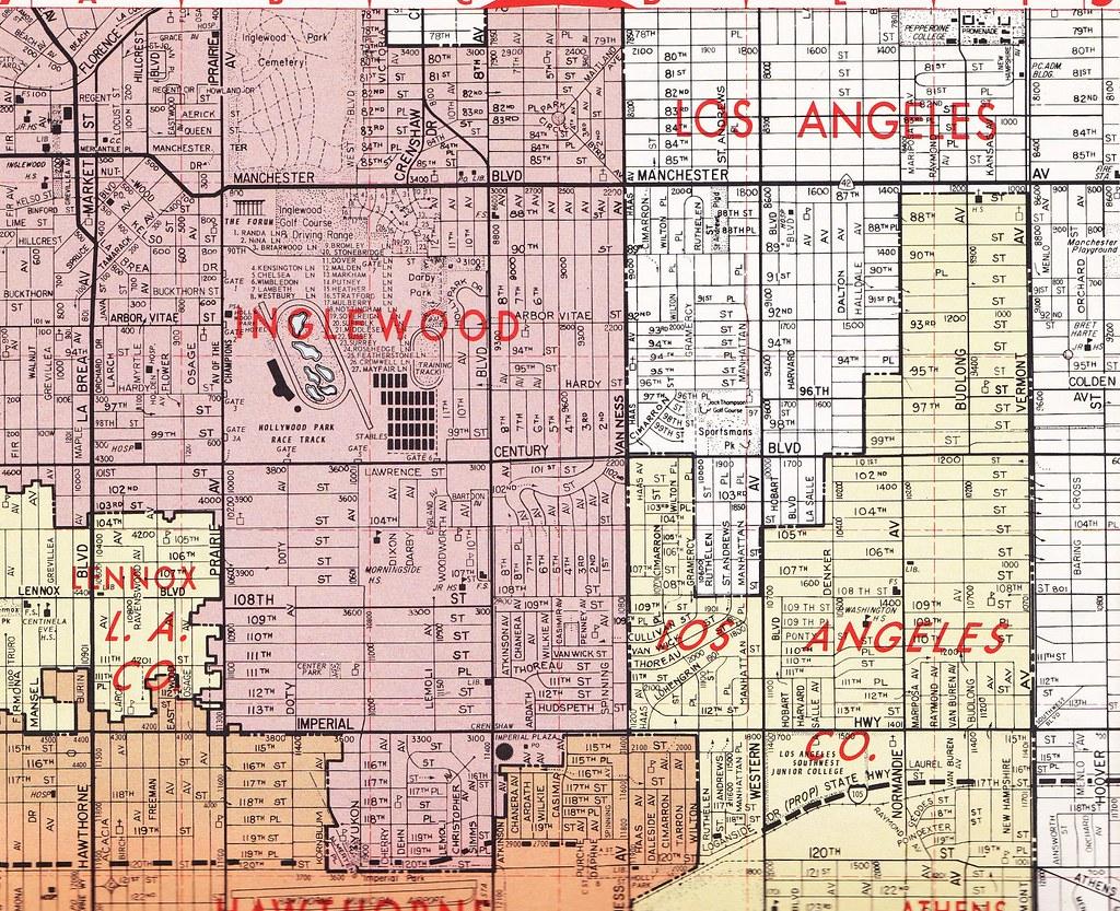 Thomas Bros Map Circa InglewoodHawthorne Area Flickr - Inglewood map