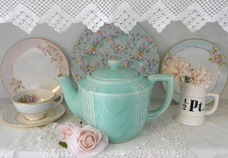 Aqua teapot | by seaside rose garden