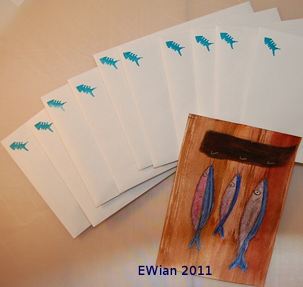three little fishes hanging in a row - in the mail | by ewian