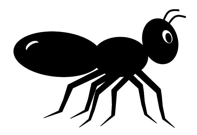 black ant clip art cute style lge 11cm long this clipart flickr rh flickr com black clipart heart black clipart heart