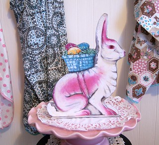 "Paper Mache Rabbit inspired ""stand up"" diecut/nutcup by Everyday is a Holiday 