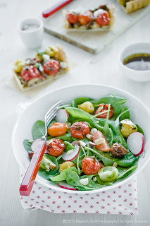 Baby Spinach Salad with Roasted Garlic Tomato | by MeetaK