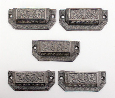 Antique Ornate Heavy Metal Drawer Pulls The Gypsy Factory Emporium