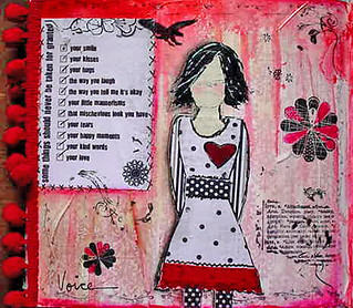 she art journal red black | by MRock61