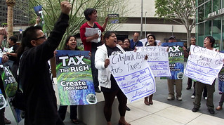 Right to the City Los Angeles: Tax the Rich Shuffle @ Citigroup | by craigdietrich
