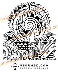 polynesian shoulder tribal mix tattoo design this polynesi flickr. Black Bedroom Furniture Sets. Home Design Ideas