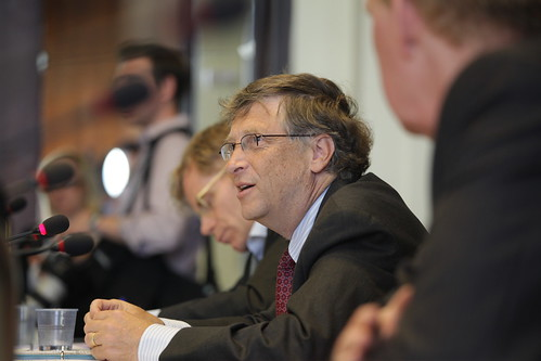 Bill Gates Addressing Health Ministers at Meeting on Polio Organized by the Gates Foundation | by US Mission Geneva