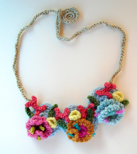 Crochet Hyperbolic Coral Reef Necklace | by meekssandygirl
