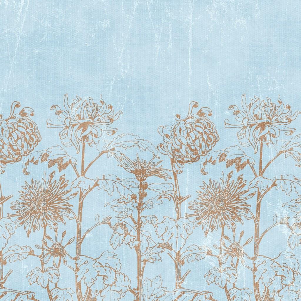 Blue Vintage Flower Background Paper Exclusivevent Catering Flickr