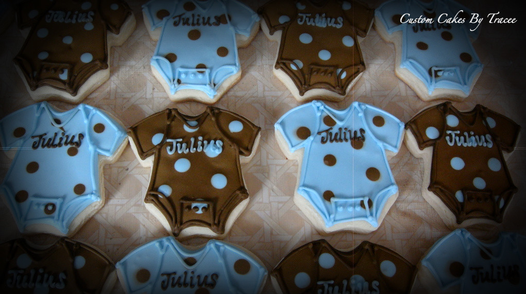 Brown And Blue Baby Shower Cookies Here Are A Few Of The 6 Flickr