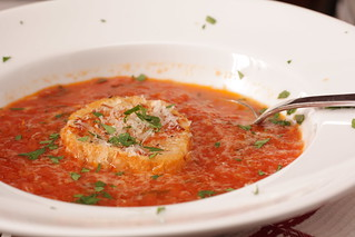 Tomato Soup with Parmesan Crouton | by Madison Bistro