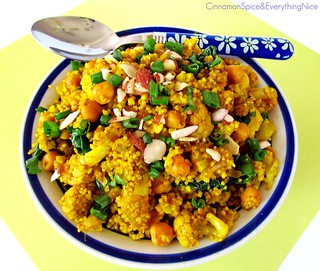 Curried Cauliflower and Chickpea Couscous | by CinnamonKitchn