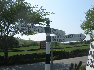 Signposts at Blore Ray crossroads, Staffordshire | by eamoncurry123