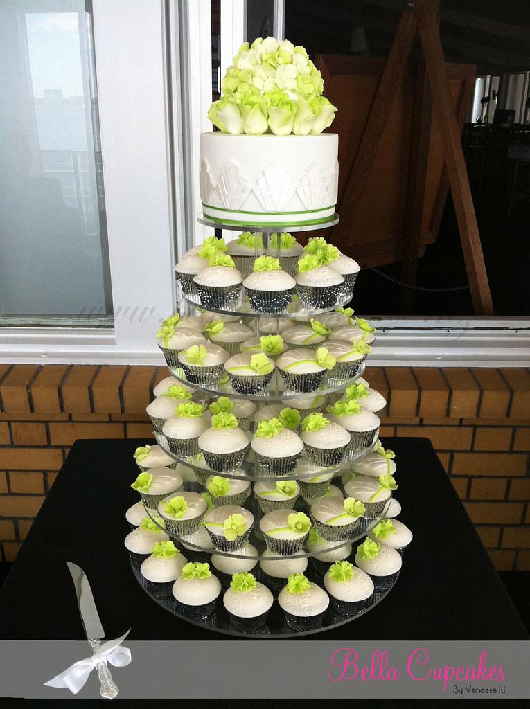 Art Deco Wedding Cupcake Tower   Art Deco inspired wedding c…   Flickr