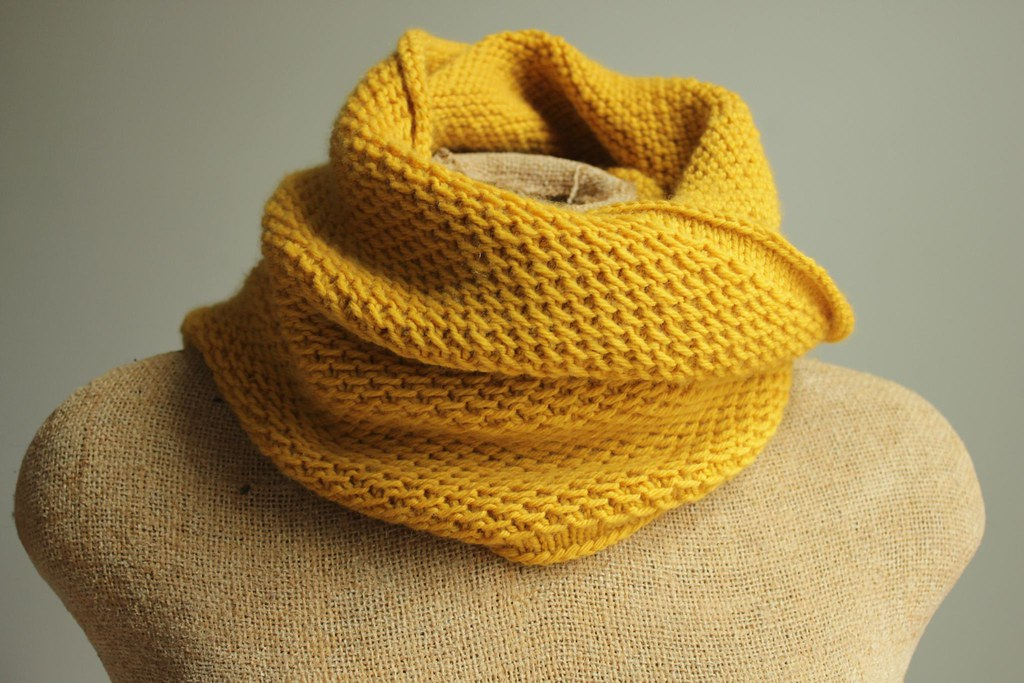 Knit Honey Cowl In Mustard Yellow Knit Cowl From Pattern Flickr