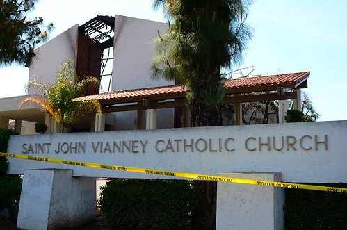 St. John Vianney Church Fire, Hacienda Heights Ca | by Jeenyuhss