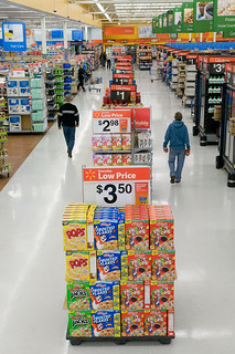 "Walmart's ""Action Alley"" Display Signs Feature Value and Convenience on Popular Shopping Items 