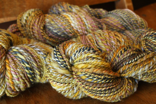 March Pound of Spinning: Forsythia Habit | by thriftyknitter