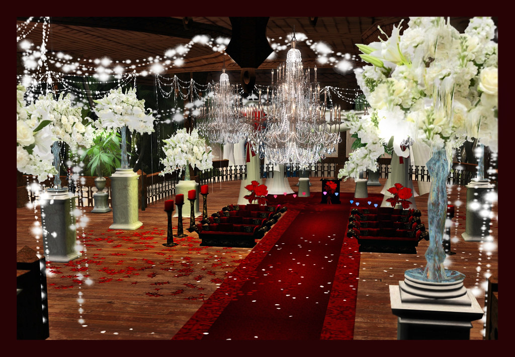Wine Red Wedding Decoration A Red Black And White Wedding Flickr