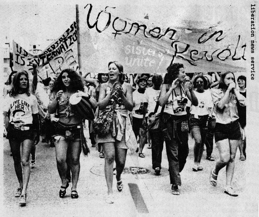 women march against nixon 1972 women s march during prote flickr