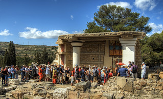 Tourists at Knossos in Crete | by neilalderney123