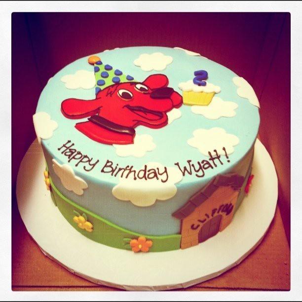 Clifford Birthday Cake Polkadots Olga Flickr