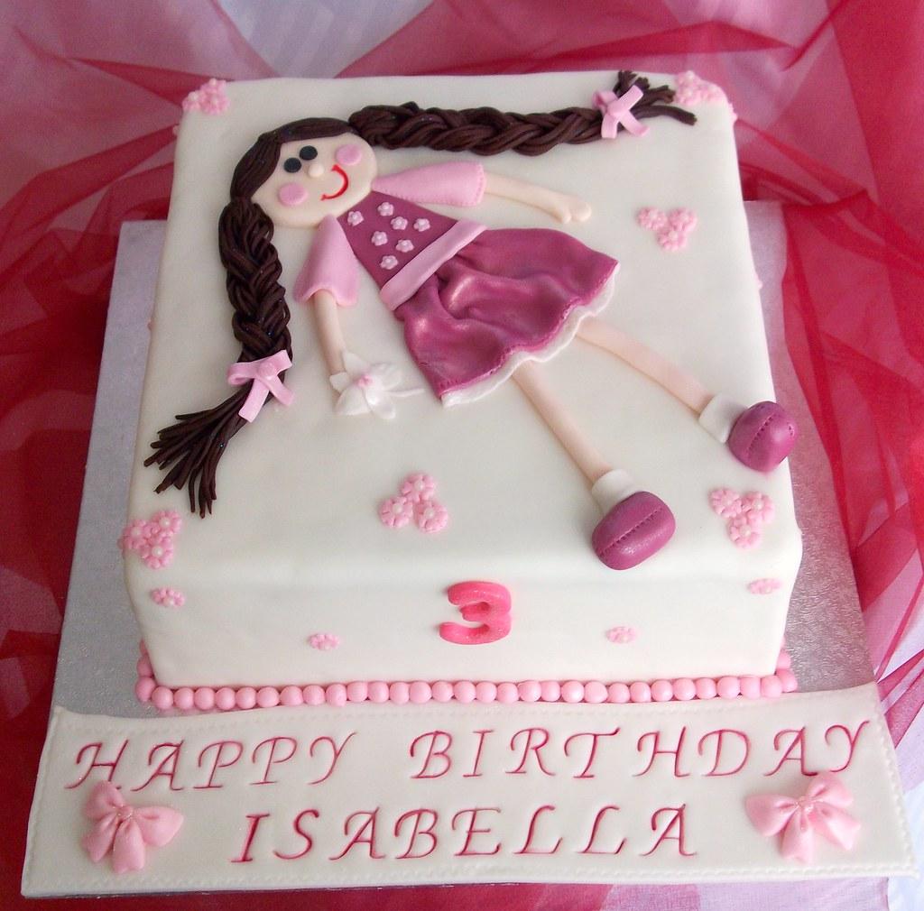 Little Girls Birthday Cake Melanie Vanilla Cake With Va Flickr