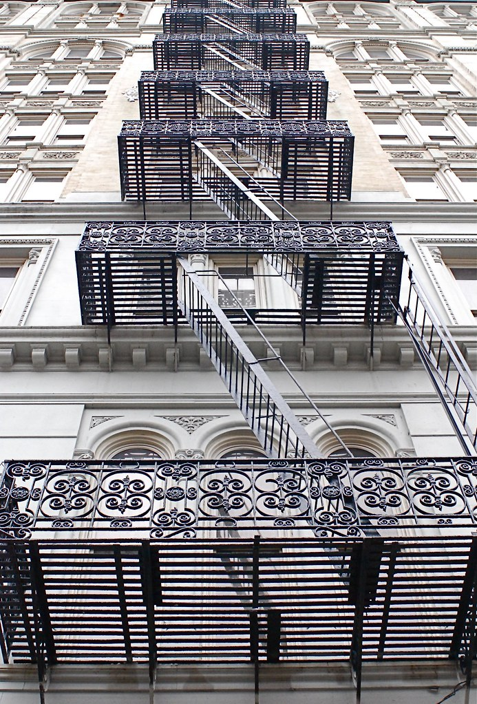... Fire Escape Stairs, Canal Street, New York City | By NYC♥NYC