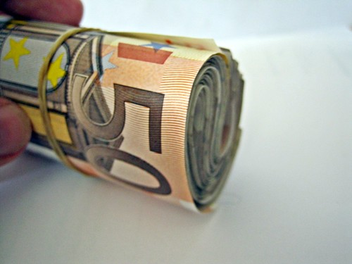 A roll of 50 euro notes | by Images_of_Money