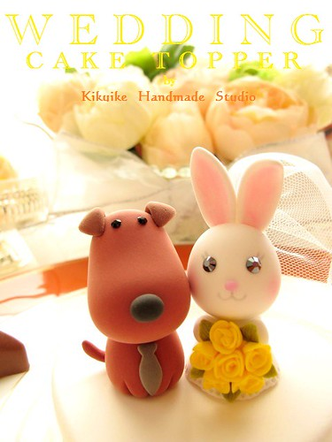 wedding cake topper with baby and dog wedding cake topper and rabbit hello welcome 26653