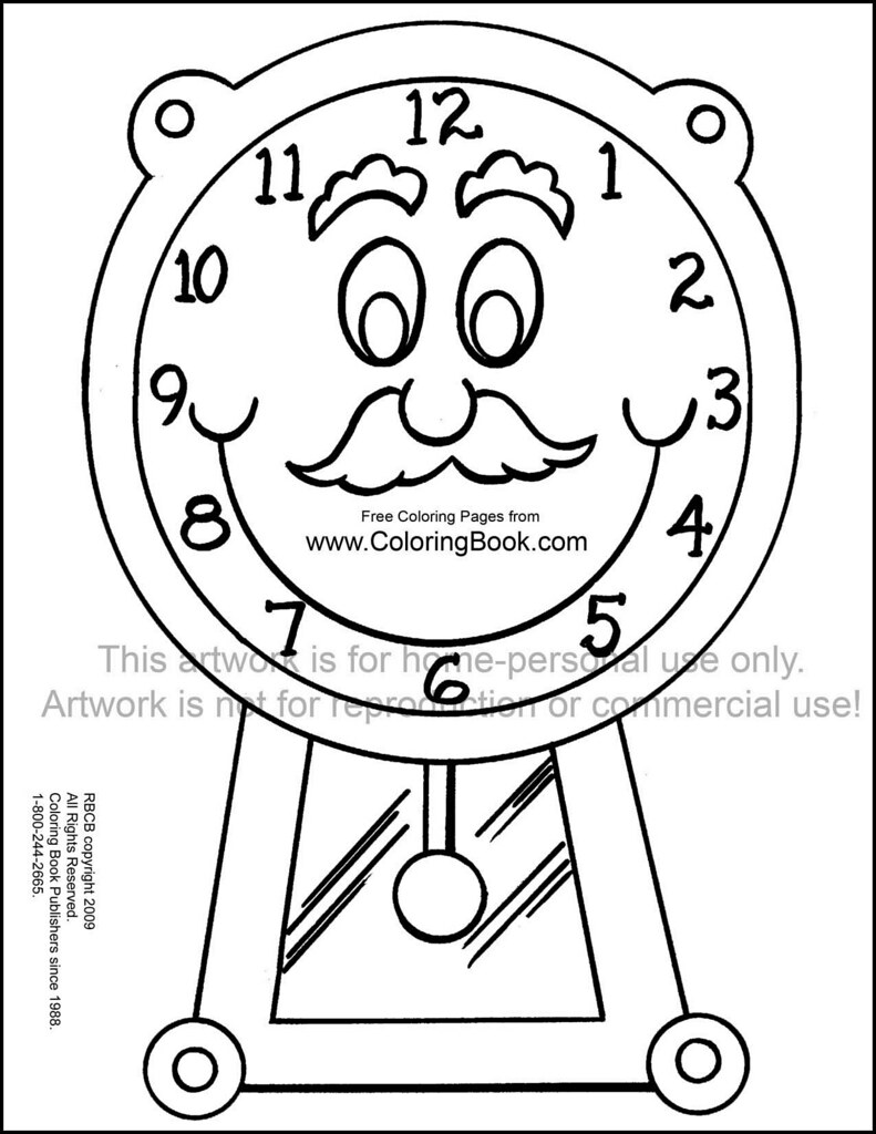 grandfather clock free coloring page wayne bell flickr